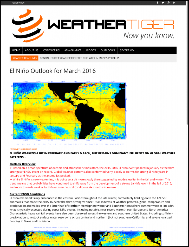 El Niño Outlook Sample