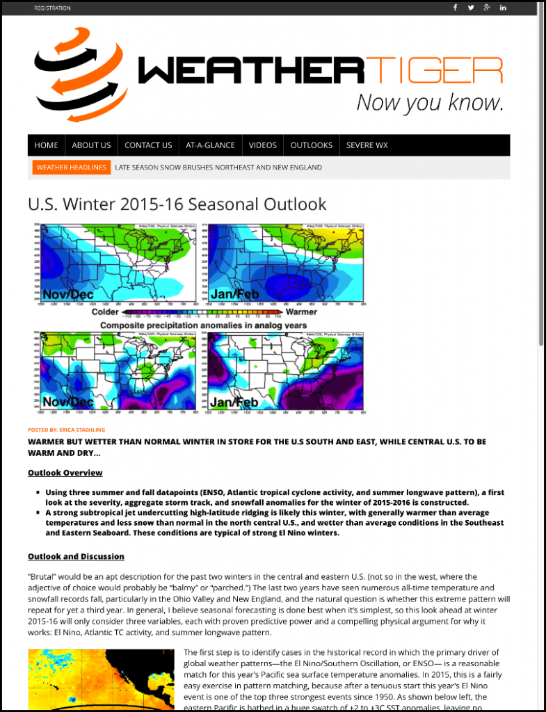 Winter Outlook Sample