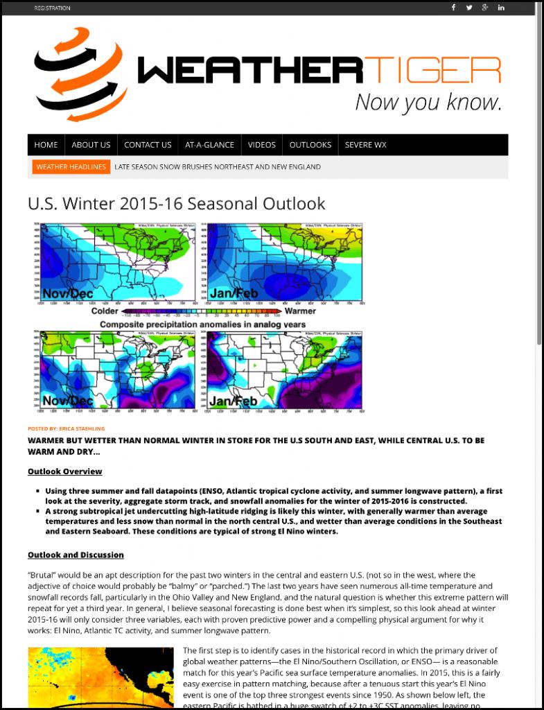 Winter Outlook Sample